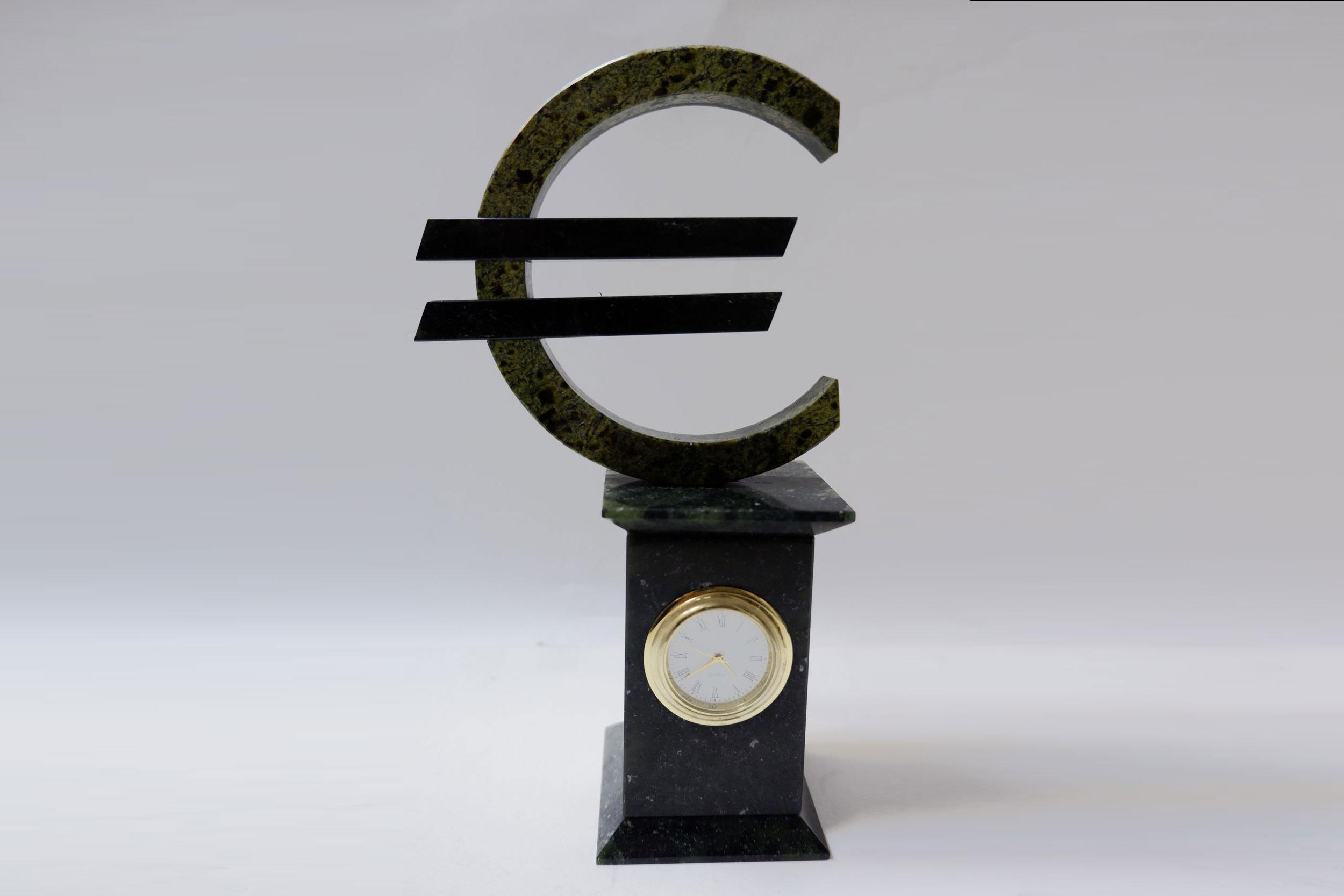 """Часы из змеевика """"Евро"""""""