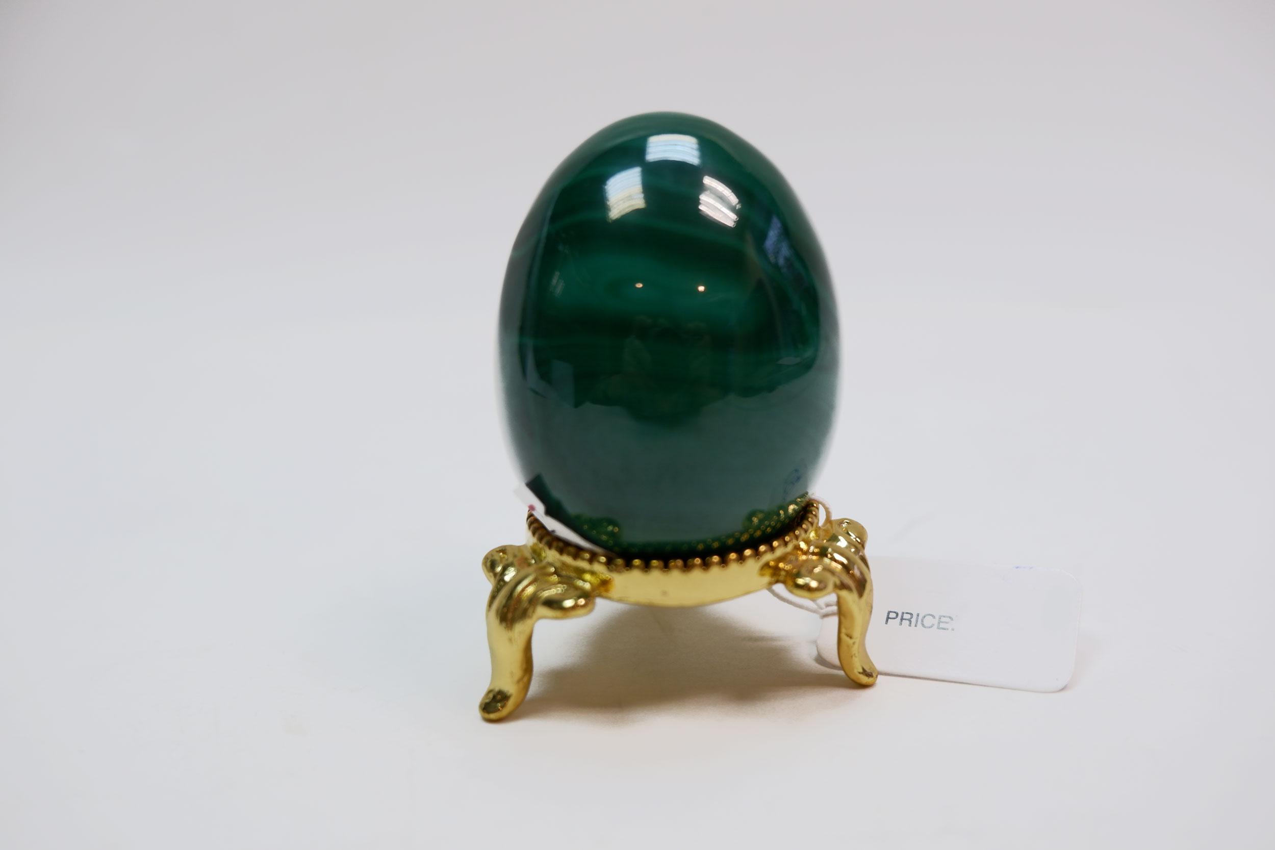 Яйцо из малахита