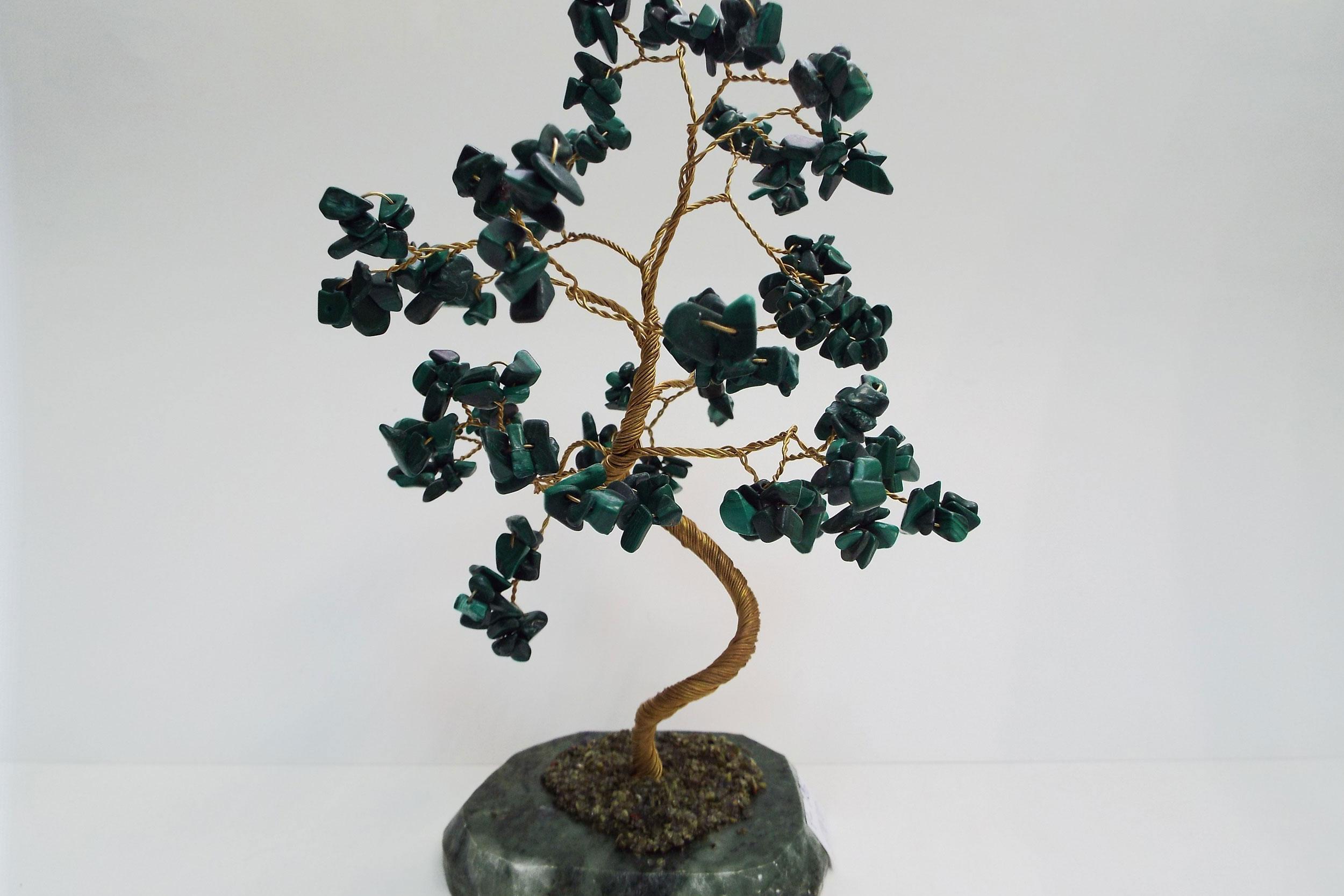 Дерево счастья из малахита