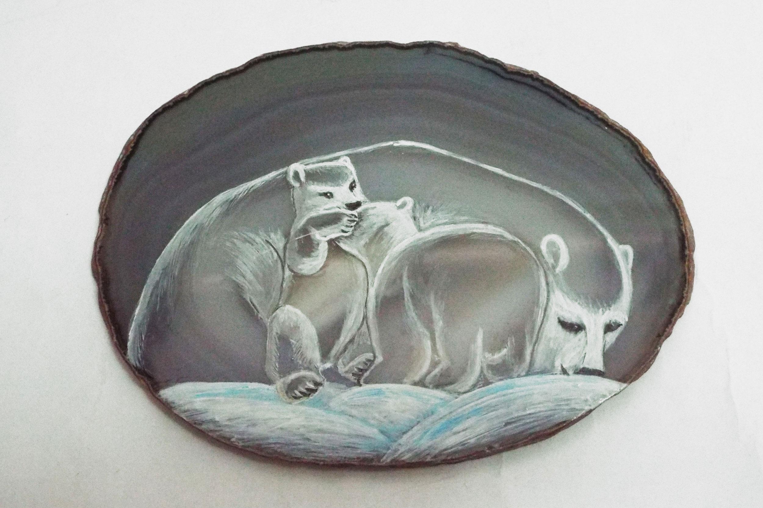 Авторские миниатюры на цветном камне