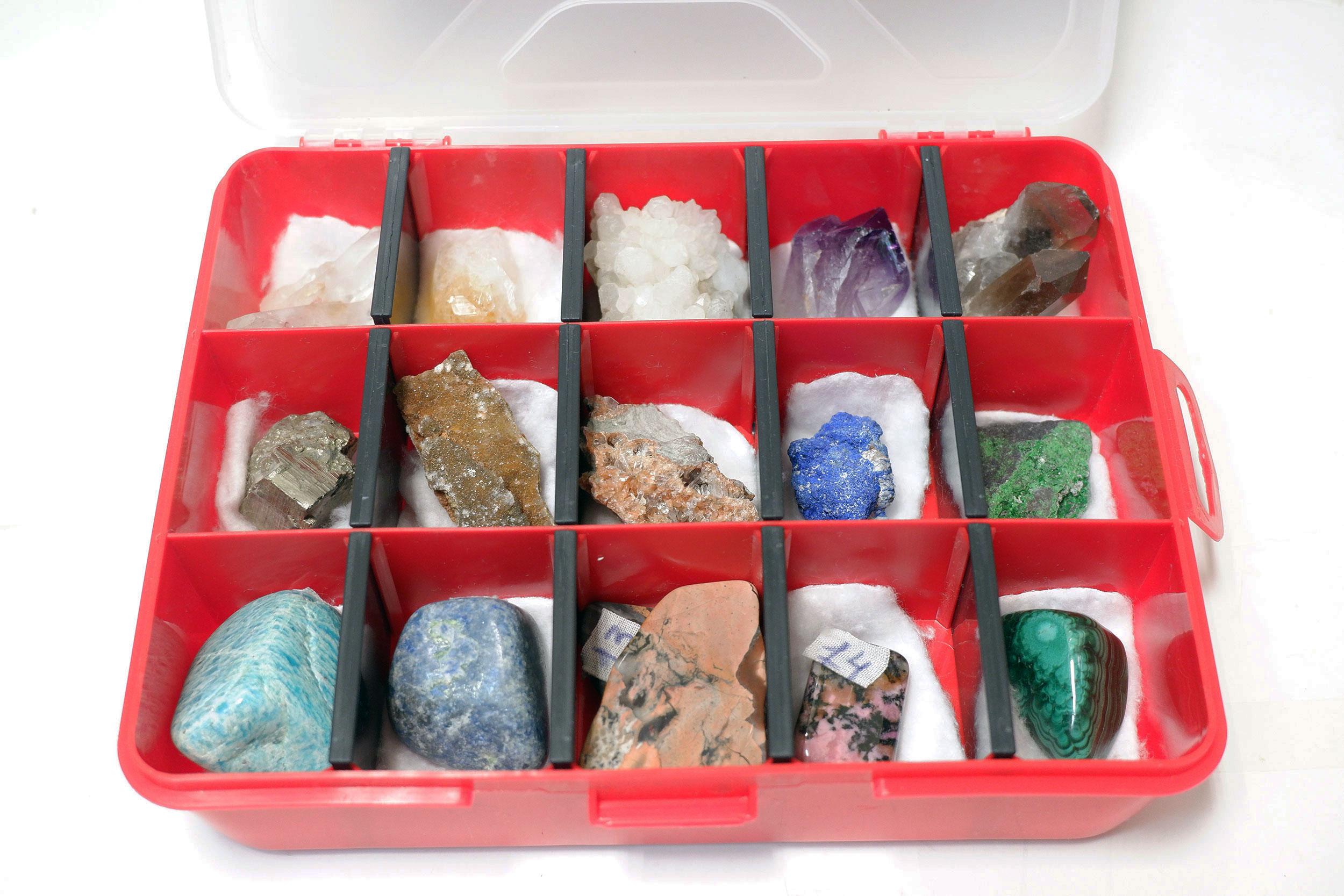 Коллекция минералов 15 штук