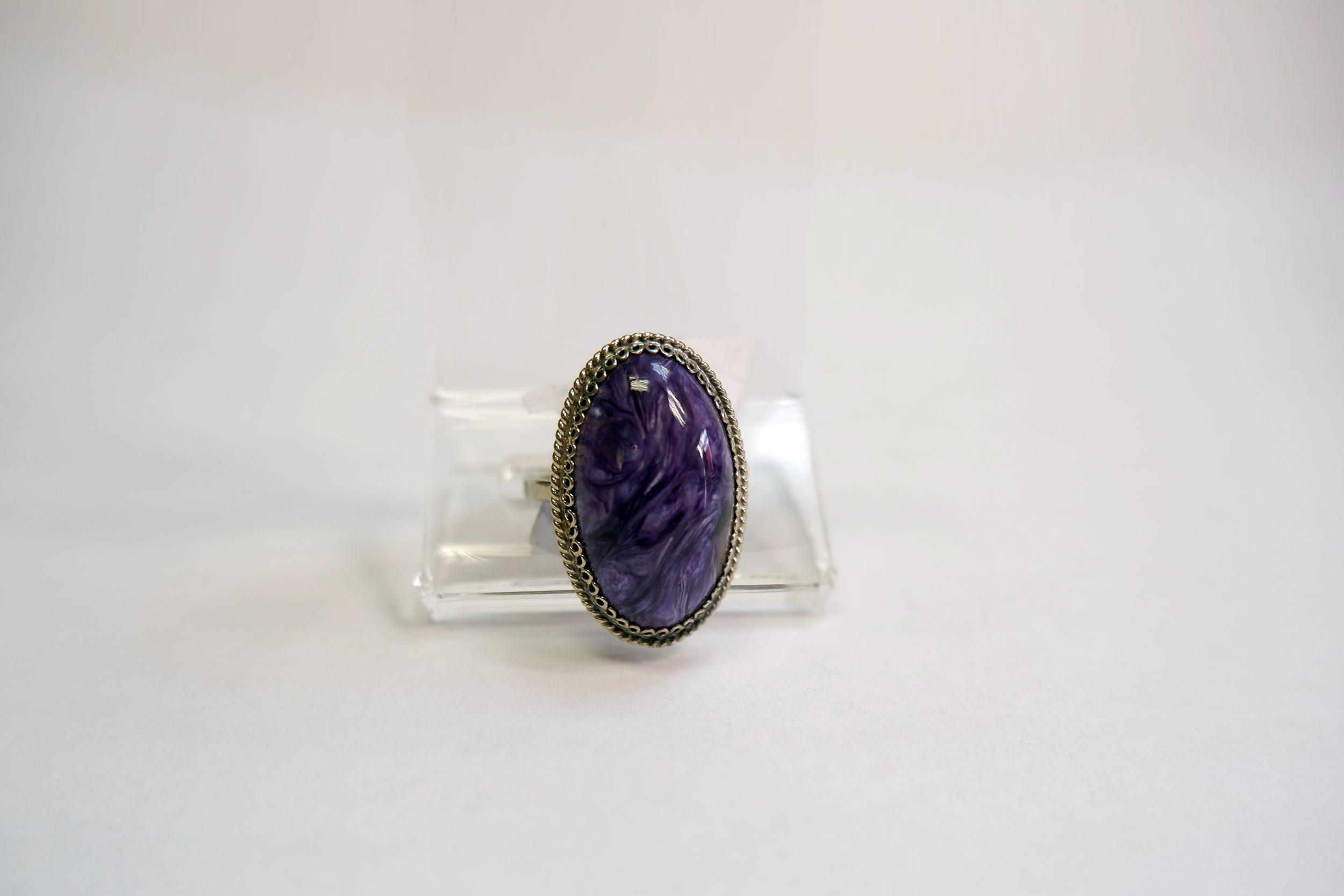 Кольцо из чароита
