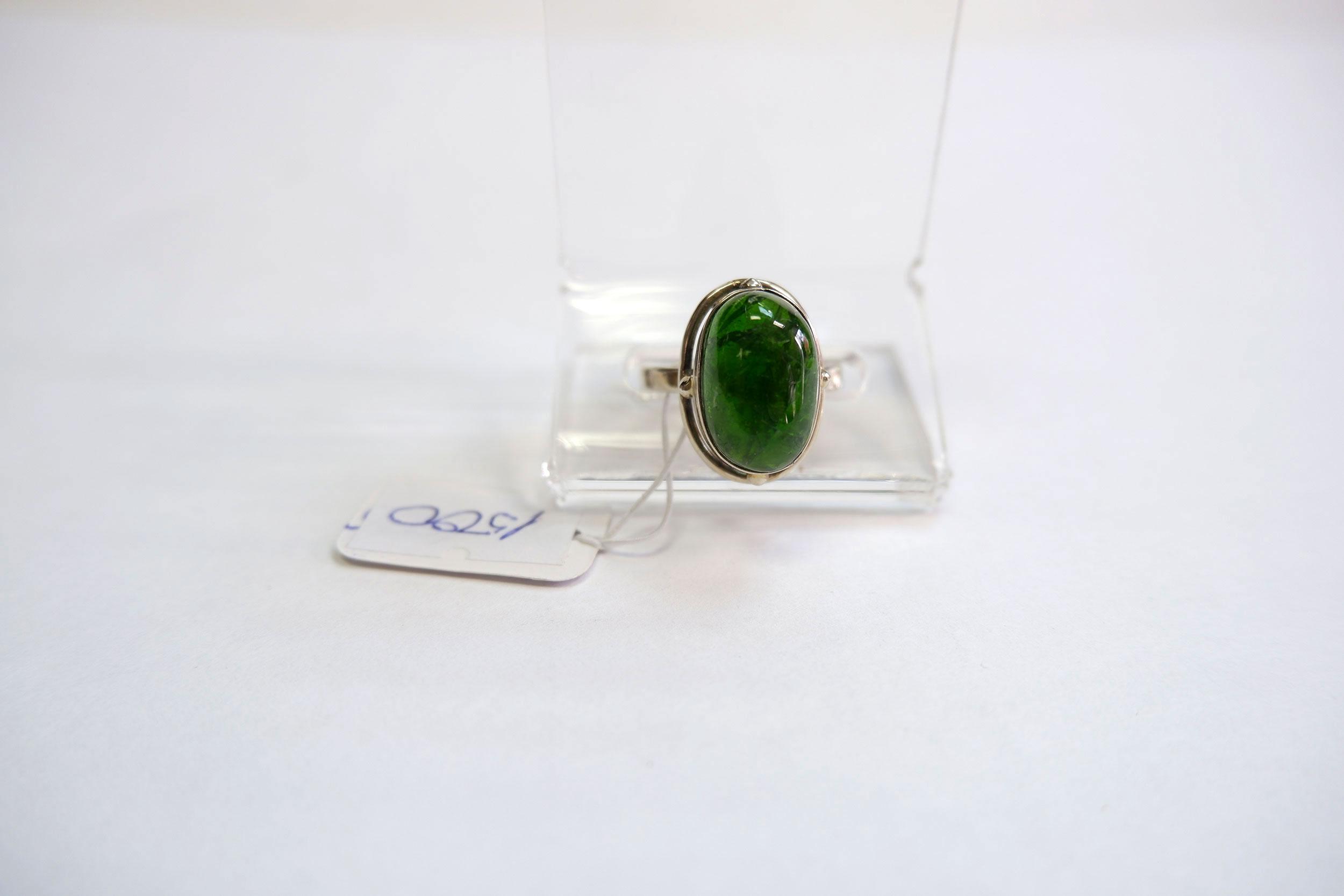 Кольцо из хромдиопсида