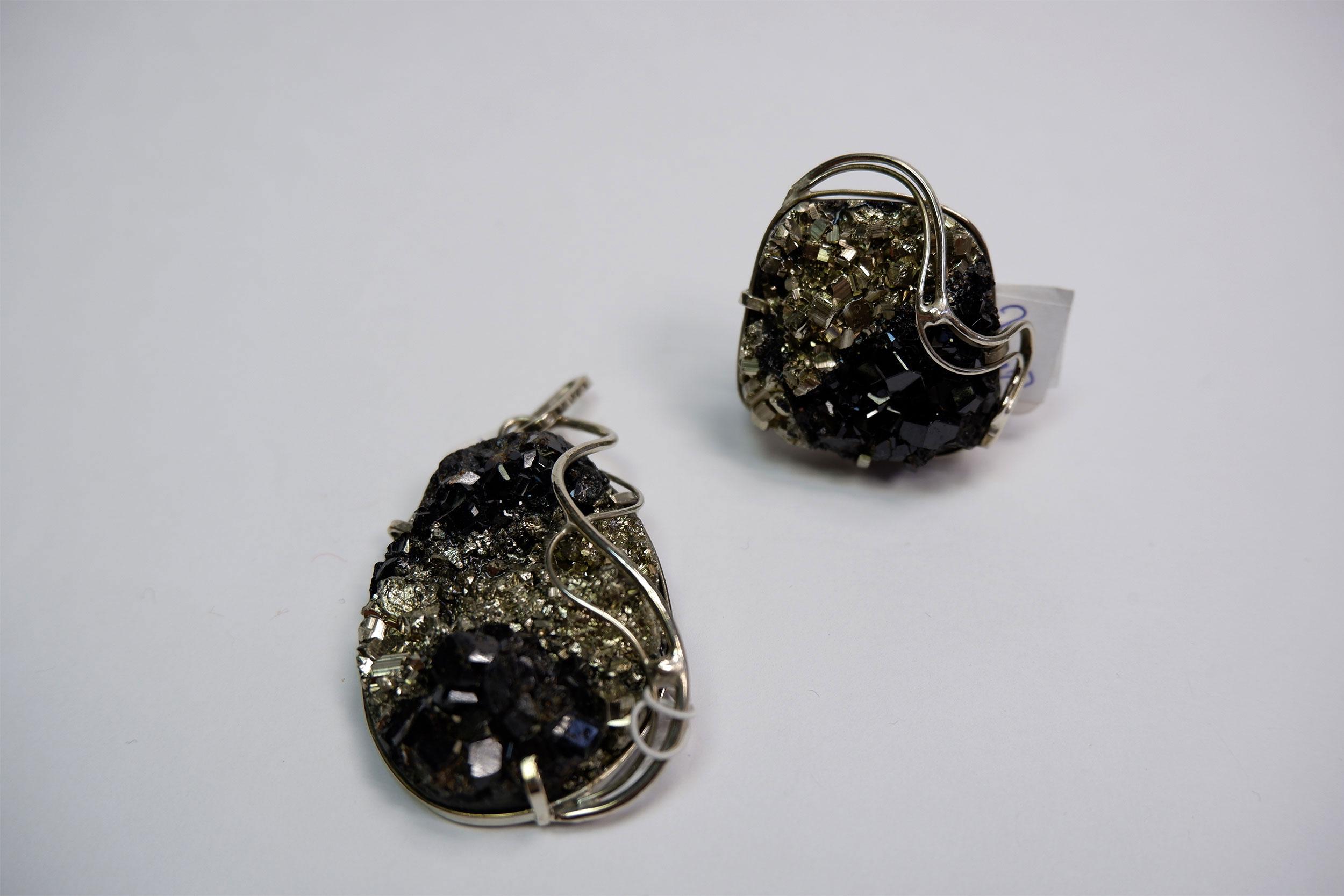 Подвеска и кольцо из мелонита