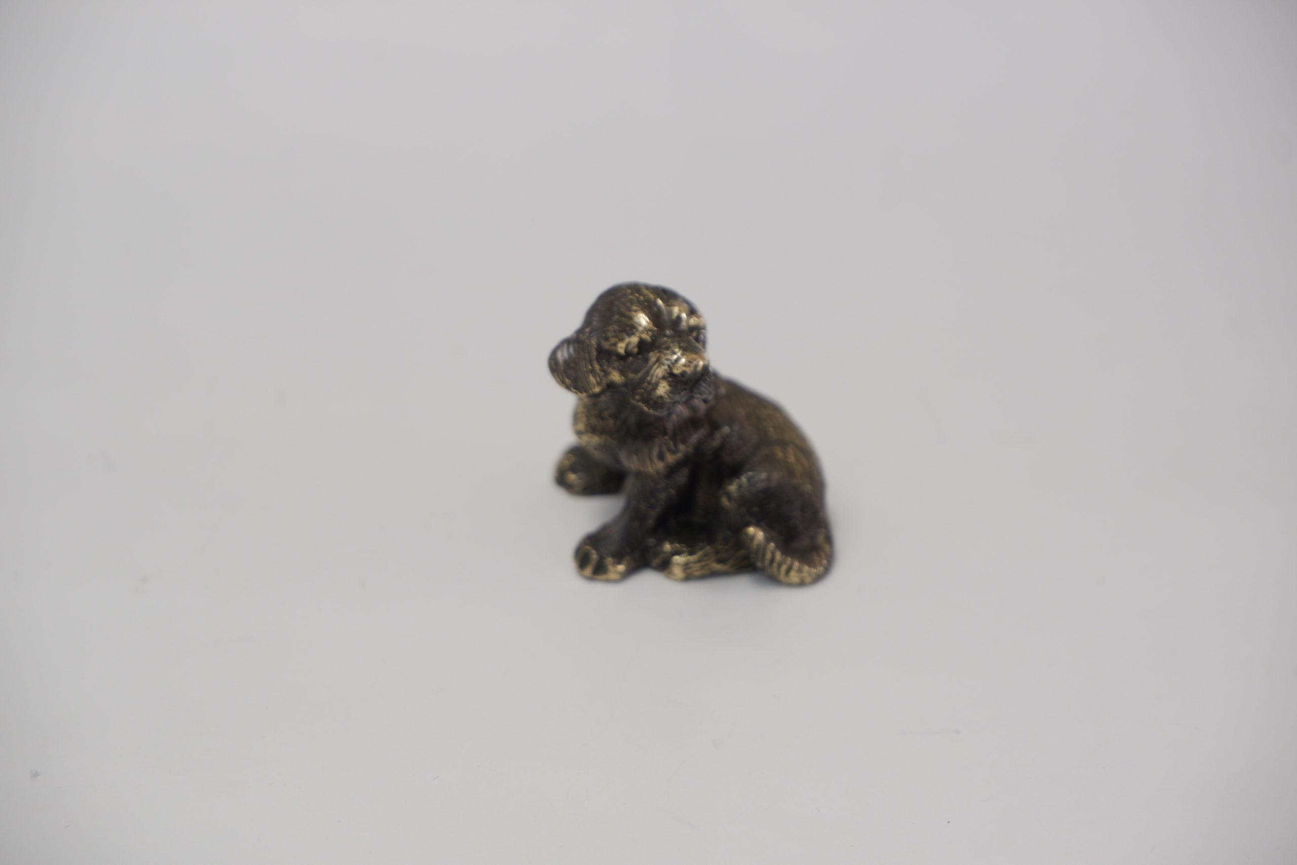 Собака литье бронза