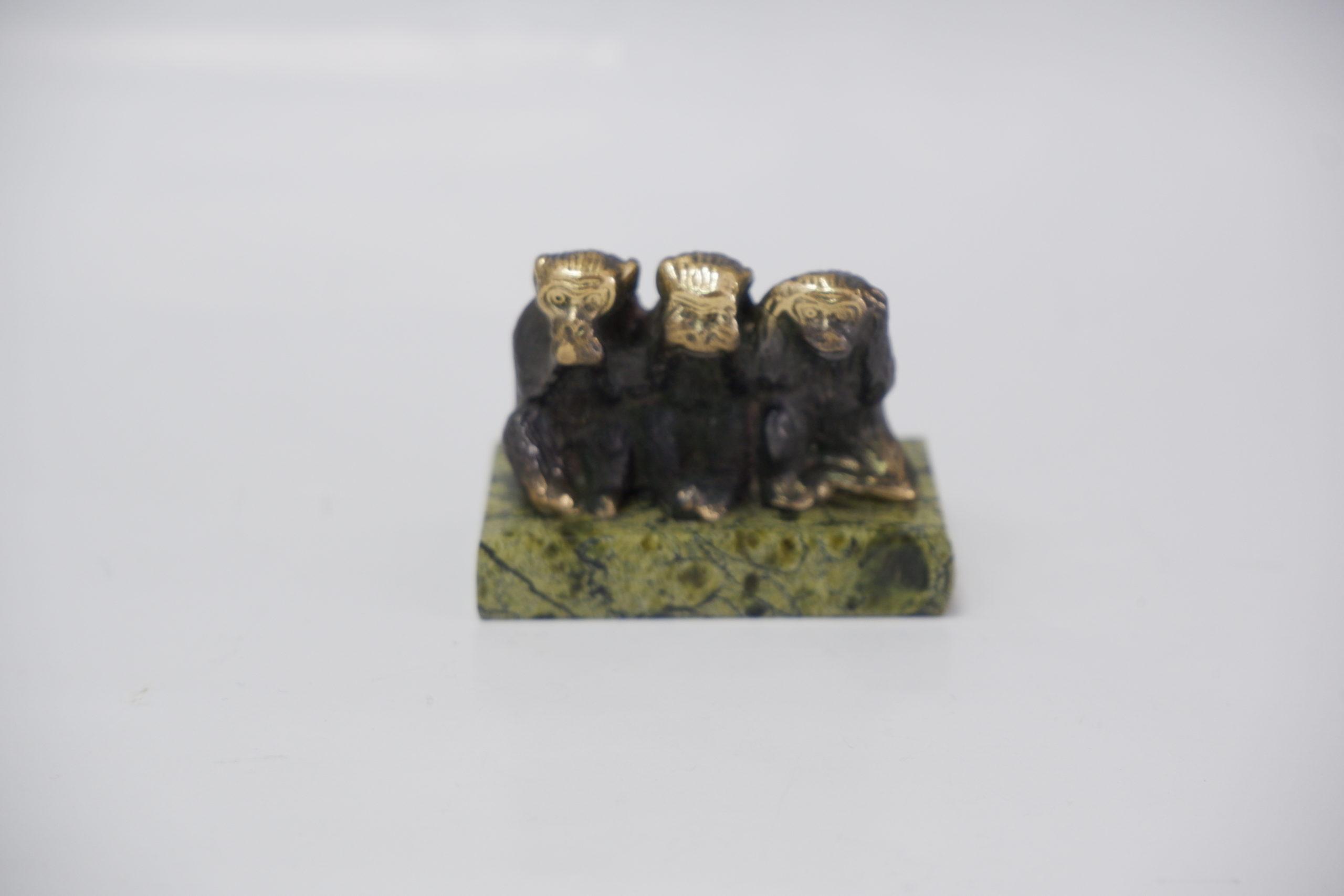 3и обезьяны литье бронза