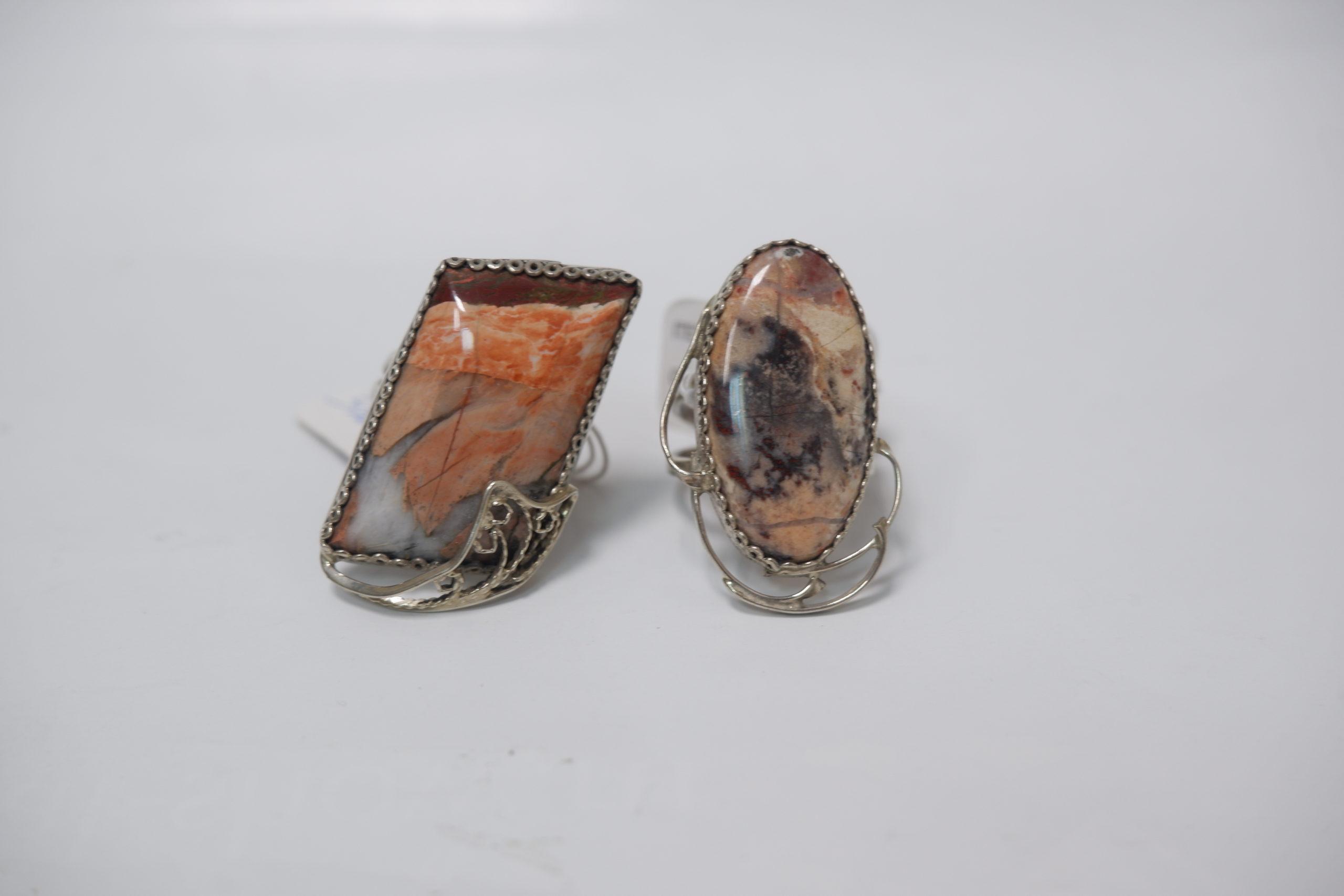 Кольца из яшмы