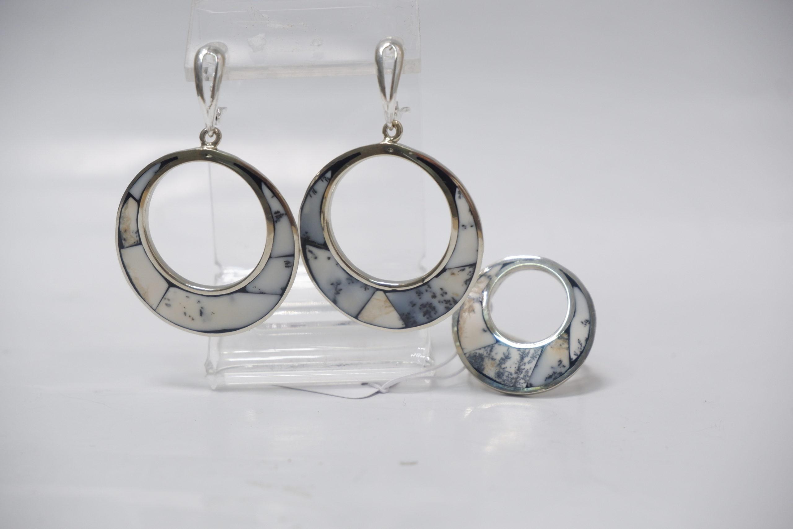 Гарнитур кольца из опала