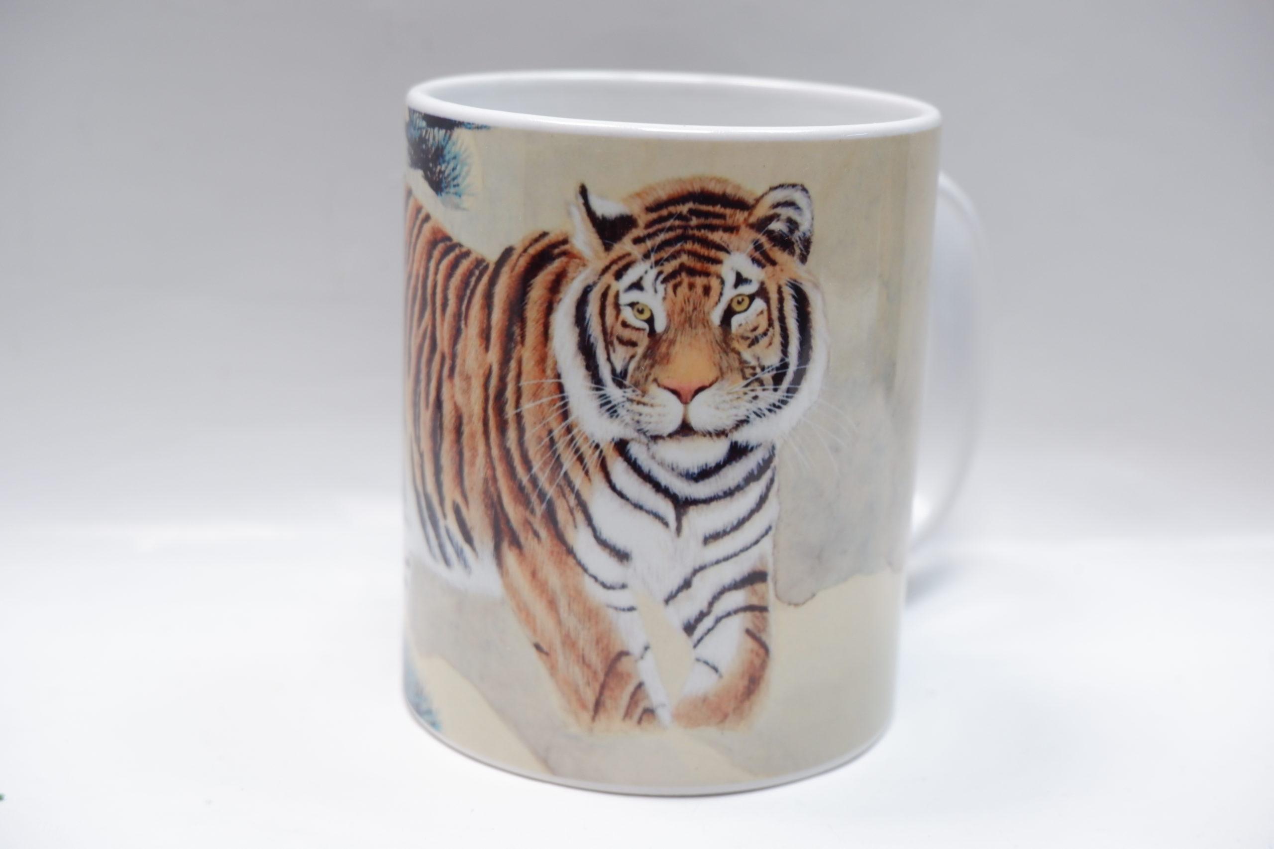 Сувенирная кружка с тигром